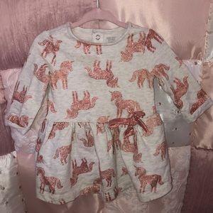 Unicorn sparkly baby girl dress 🦄